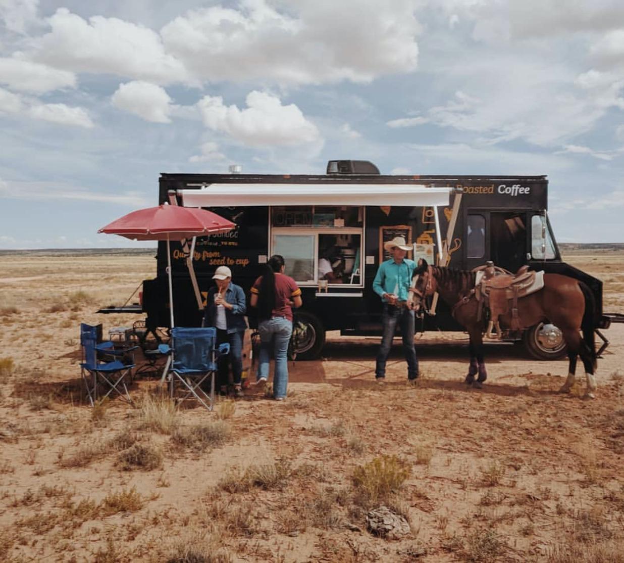 Empresrias del café en la reserva Navajo